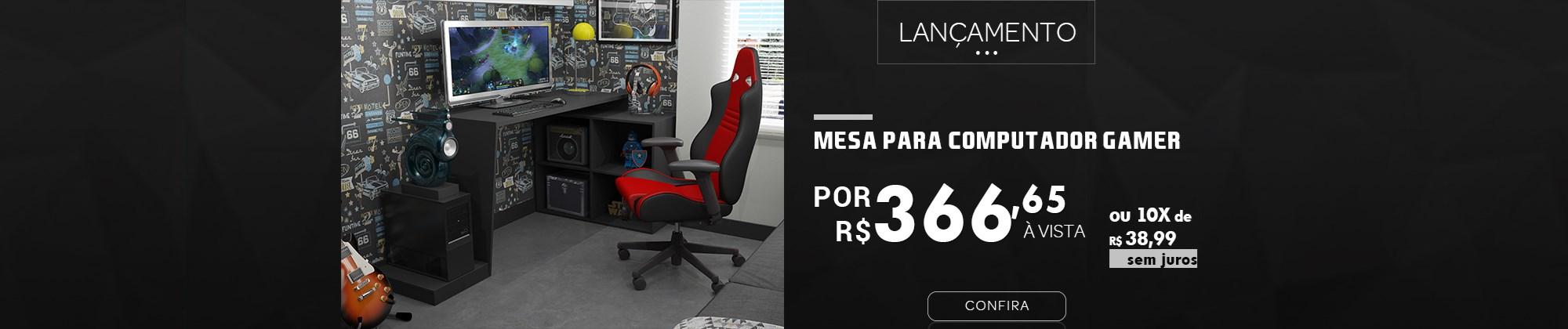 Mesa para Gamer na Casa Aberta Brasil - Lançamento BRV Móveis
