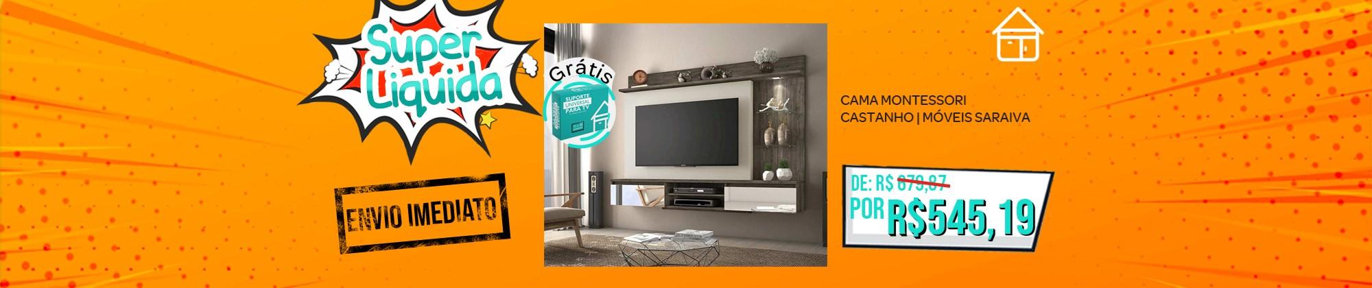 Painel Bellagio para Tv até 60 polegadas com suporte para tv Notável Móveis