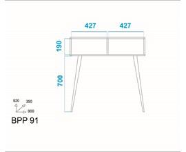 Aparador Palito BPP91 Branco/ Pinhão BRV Móveis