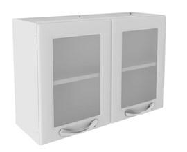 Armário Aéreo 80cm 2 Portas de Vidro Branco Premium Itatiaia