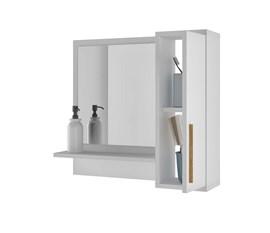 Armário Aéreo BBN07 Para Banheiro Branco BRV Móveis
