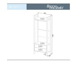 Armário Alto Closet Az1011 Branco com Nogal Tecno Mobili
