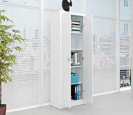 Armário Alto para Escritório ME4105 Branco Tecno Mobili