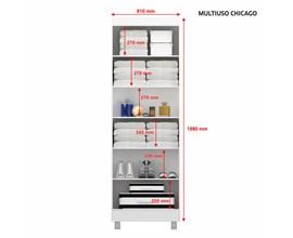Armário Multiuso 2 Portas com Chave Chicago Café Notável Móveis