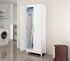 Armário Multiuso 2 Portas Lavanda Branco Notável Móveis