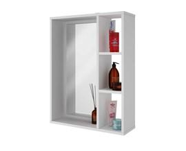 Armário Para Banheiro com espelho Bbn03 Branco Brv Móveis