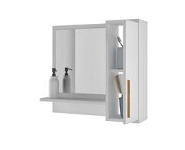 Armário Para Banheiro com espelho Bbn07 Branco Brv Móveis