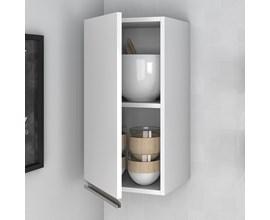 Armário Para Cozinha com 1 Porta Bam 32 Branco Brv Móveis