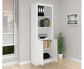 Armário Para Escritório com Prateleiras Me4110 Branco Tecno Mobili