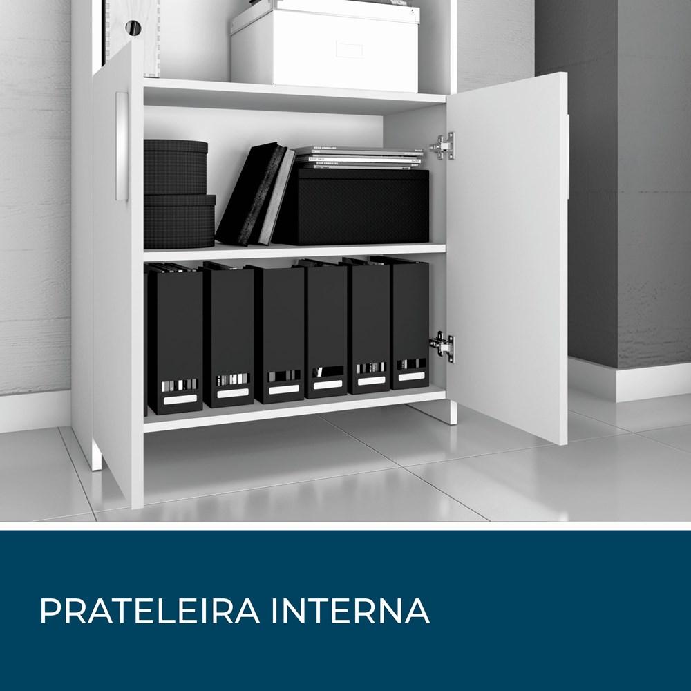 Armário Para Escritório Office Preto Notável Móveis
