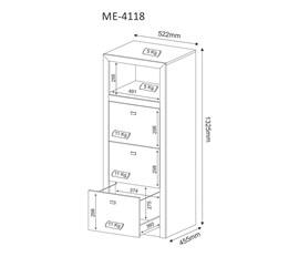 Armário para Escritório Pasta Suspensa ME4118 Nogal Tecno Mobili