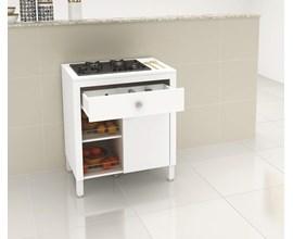 Balcão 3 em 1 Para Cooktop e Fruteira Bl3303 Branco Tecno Mobili