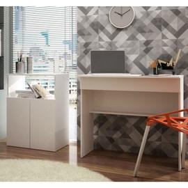 Balcão Baixo Office Branco e Escrivaninha Office Branco Casa Aberta Brasil