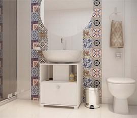 Balcão BBN02 Versa Para Banheiro Branco BRV Móveis