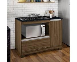 Balção Cooktop Nt 3050  Nogal Trend Notável Móveis