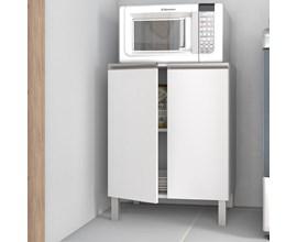 Balcão Multiuso para Cozinha com 2 Portas BMU 33 Branco BRV Móveis