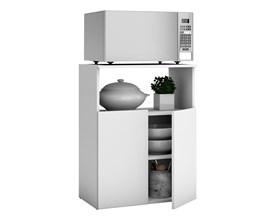 Balcão Multiuso Para Cozinha com 2 Portas e 1 Nicho Bmu 122 Branco Brv Móveis