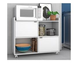 Balcão Multiuso para Cozinha com 2 Portas e 2 Nichos BMU 170 Branco BRV Móveis
