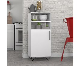 Balcão Multiuso Para Cozinha com Pé Metálico Bmu 169 Branco Brv Móveis