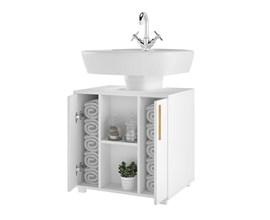 Balcão Para Banheiro Versa Bbn08 Branco Brv Móveis