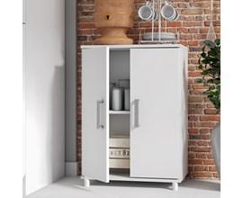 Balcão para Cozinha com 2 Portas BMU 105 Branco BRV Móveis