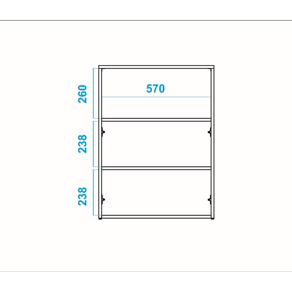 Balcão Para Escritório Bho22 Office Branco Brv Móveis
