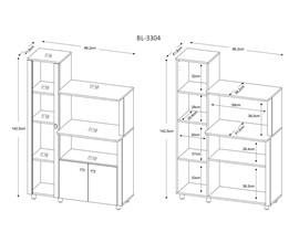 Balcão Para Microondas com Cristaleira Bl3304 Branco Tecno Mobili