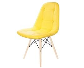 Bancada Para Cozinha Am 3106 com 2 Cadeiras Botonê Amarela Casa Aberta Brasil