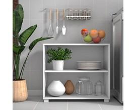 Bancada Para Cozinha sem Portas Bmu 63 Branco Brv Móveis
