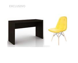 Bancada Para Quarto Me4135 com Cadeira Botonê Amarela Casa Aberta Brasil