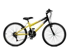 Bicicleta 24 Ciclone Plus 21 Marchas Aro 24 Amarelo/Preto Master Bike