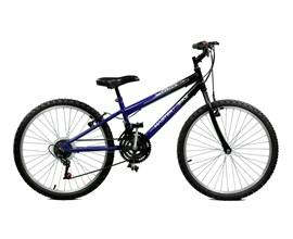 Bicicleta 24 Ciclone Plus 21 Marchas Aro 24 Azul/Preto Master Bike