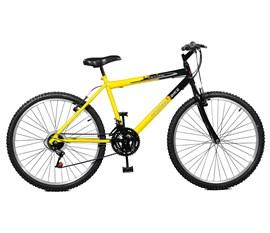 Bicicleta 26 Ciclone Plus 21 Marchas Aro 26 Amarelo/Preto Master Bike