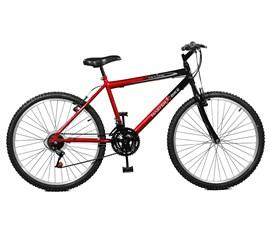 Bicicleta 26 Ciclone Plus 21 Marchas Aro 26 Vermelho/Preto Master Bike