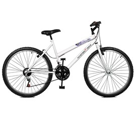 Bicicleta 26 Emotion 18 Marchas Aro 26 Branco Master Bike