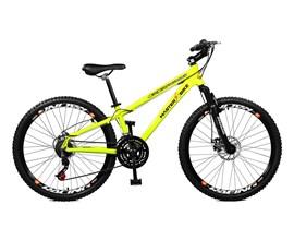 Bicicleta 26 Free Rider 21 Marchas Freio/disco Aro 26 Amarelo Neon Master Bike