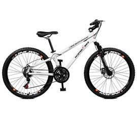 Bicicleta 26 Free Rider 21 Marchas Freio/disco Aro 26 Branco Master Bike
