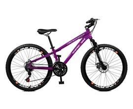 Bicicleta 26 Free Rider 21 Marchas Freio/disco Aro 26 Roxo Neon Master Bike
