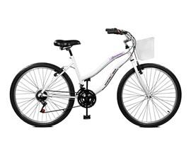 Bicicleta 26 Ipanema Plus 21 Marchas com Cesta Aro 26 Branco Master Bike