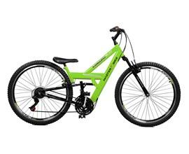 Bicicleta 26 Kanguru Rebaixada 21 Marchas Aero 36 Aro 26 Verde/preto Master Bike
