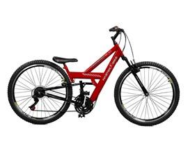 Bicicleta 26 Kanguru Rebaixada 21 Marchas Aero 36 Aro 26 Vermelho/preto Master Bike