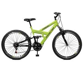 Bicicleta 26 Kanguru Style 21 Marchas    Aero 36 Aro 26 Verde/Preto Master Bike
