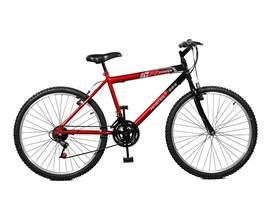 Bicicleta 26 Max Power 18 Marchas Aro 26 Vermelho/preto Master Bike