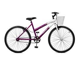 Bicicleta 26 Serena Aro 26 Violeta/Branco Master Bike