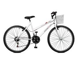 Bicicleta 26 Serena Plus 21 Marchas Aro 26 Branco Master Bike