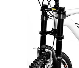 Bicicleta 26 Totem Suspensão Full Alta     A-36 Aro 26 Preto Master Bike
