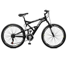 Bicicleta 26 Totem Suspensão Full Baixa     A-36 Aro 26 Preto Master Bike