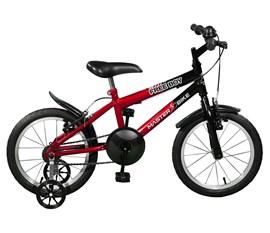 Bicicleta aro 16 Free Boy Aro 16 Vermelho/Preto Master Bike