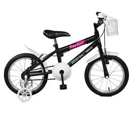 Bicicleta aro 16 Free Girl Aro 16 Preto Master Bike