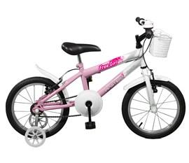 Bicicleta aro 16 Free Girl Aro 16 Rosa/Branco Master Bike